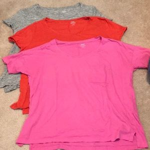 👕 3 Old Navy Boyfriend Tops Size Large 👚